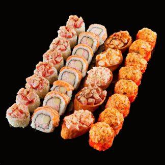 Küpsetatud mere aaded sushi