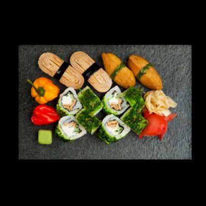 sushi assortii taimetoitlasele
